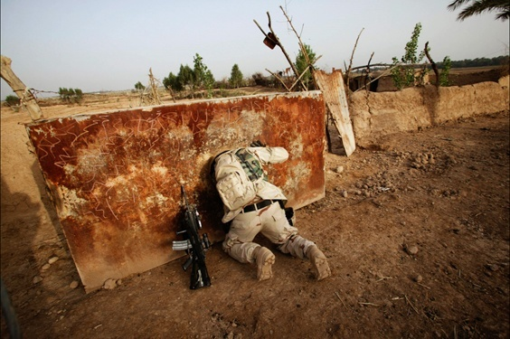 Photo by Christoph Bangert for War/Photography exhibit