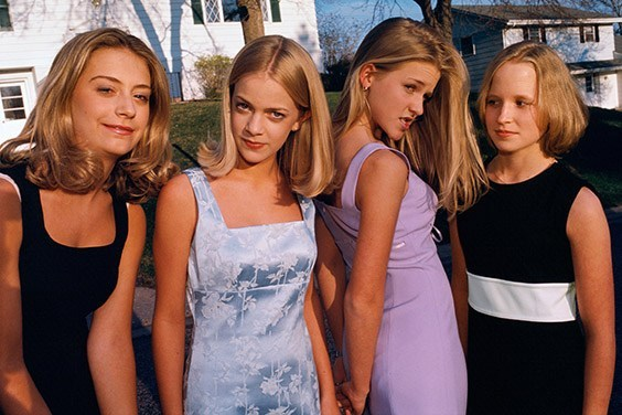Alli, Annie, Hannah, and Berit, all 13, before the first big party of the seventh grade, Edina, Minnesota.