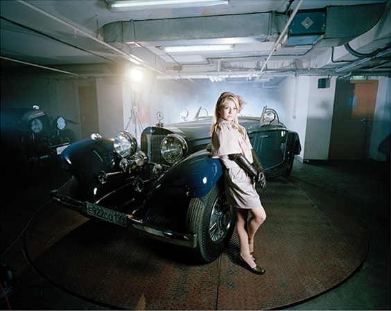 """Arina in her Garage, Moscow, 2009,"" from the series ""Little Adults,"" portraits of the first generation of children in Russian born into wealth."